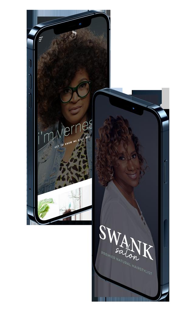 swanky stylez salon, website design, responsive design, mobile